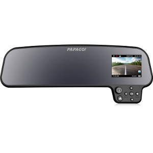 Product photo of the Papago GoSafe 260 rear view mirror dash cam