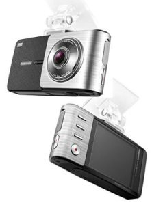 Thinkware X500 car cam, front and rear view