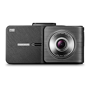 Product photo of the Thinkware X550 dash cam, as seen from the front (lens side)