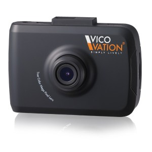 A closeup of the Vico-TF2+ Premium dash cam