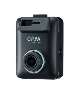 Product photo of the Vico-Opia2 dash cam, as seen from the front