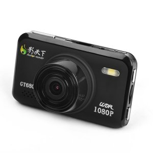 The Shadow GT680W car DVR is all black and smaller than a credit card