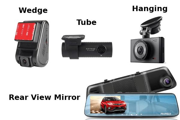 Forme e dimensioni di Dash Cam