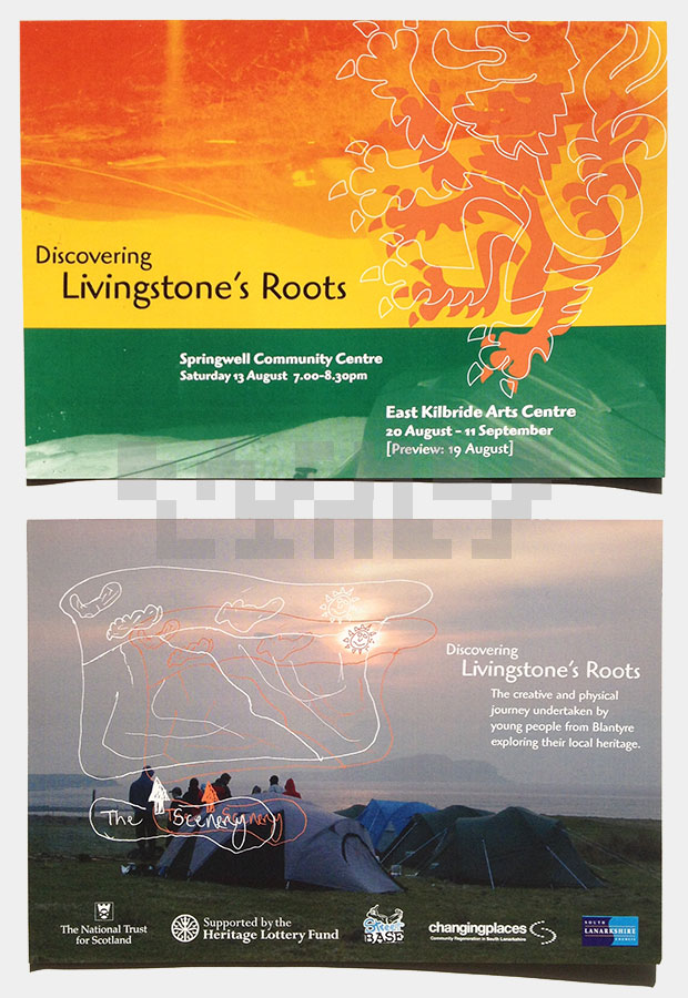 Livingstone's Roots flyer - both sides