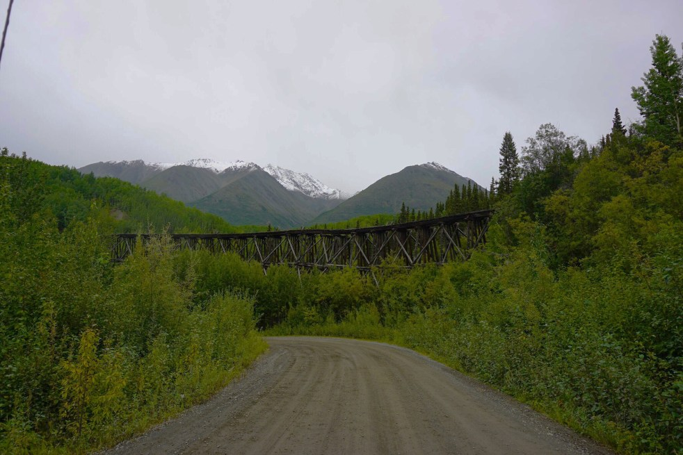 McCarthy Highway Alaska train bridge