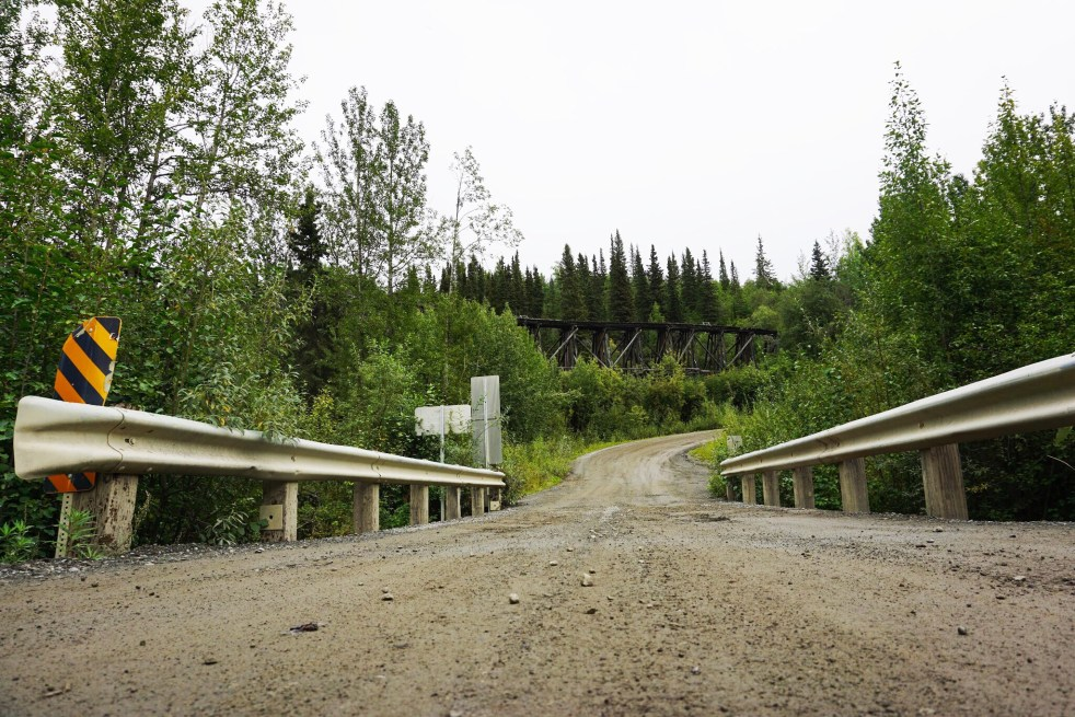 Dirt road McCarthy Highway