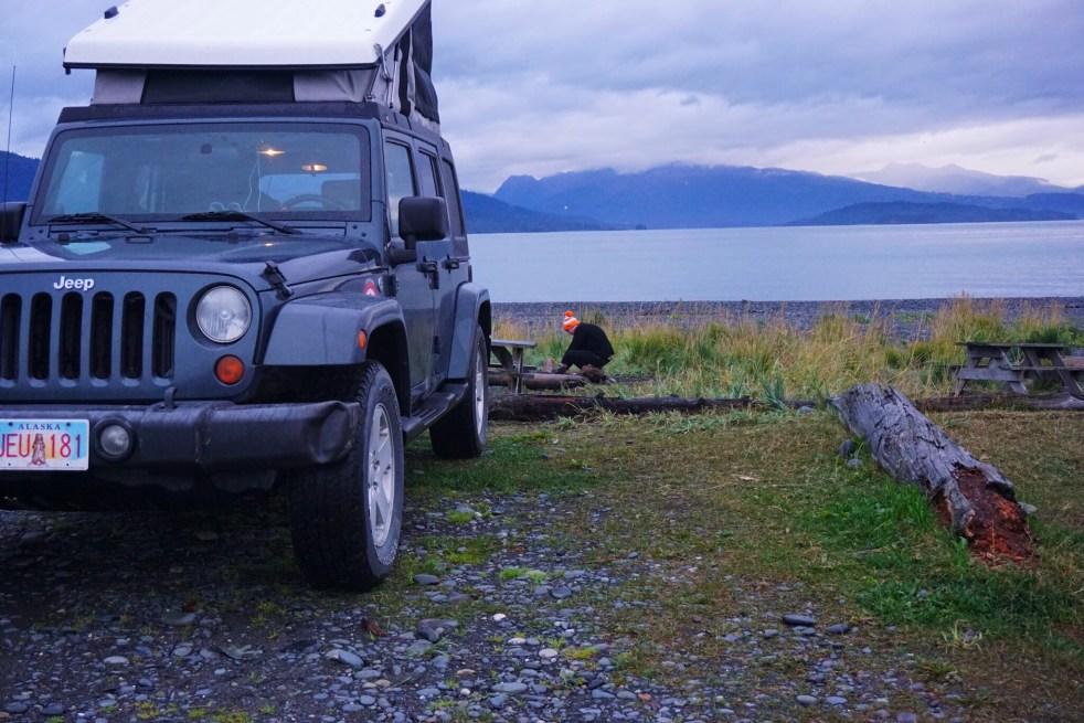 Homer Spit Jeep Camper