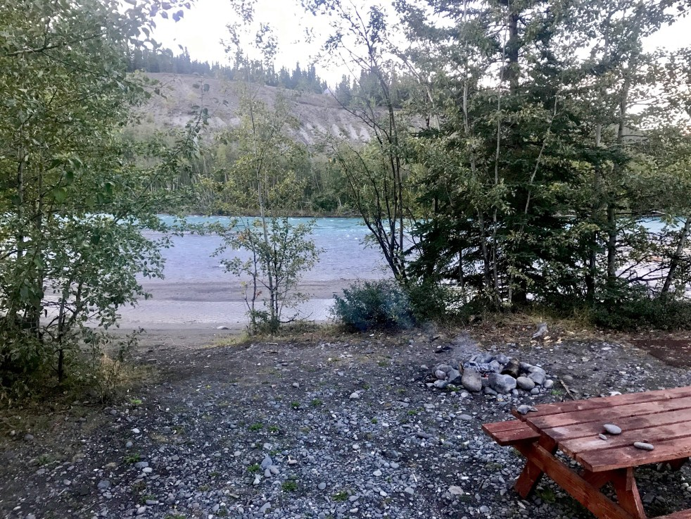 river picnic table alaska
