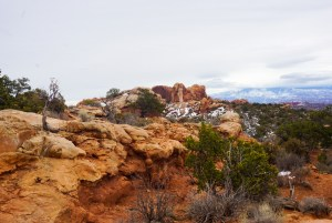 Desert rocks in Arches National Park