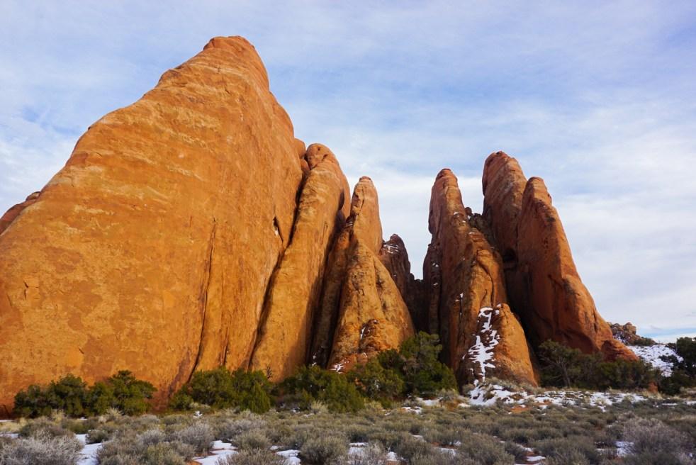 Red Orange Rock Fins