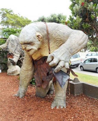 Trolls at Weta Cave, Miramar, Wellington, New Zealand