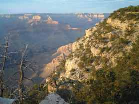 Distant view of the North Rim of the Grand Canyon
