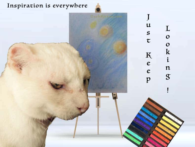 Hunt For Inspiration Graphc with a cat