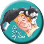 cat on my head blog hop button