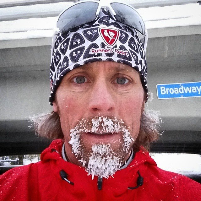 Winter running in the cold - just be prepared. Ice Beard
