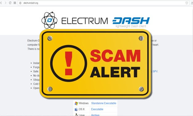 Fake Dash Electrum Page Attempts to Scam Users
