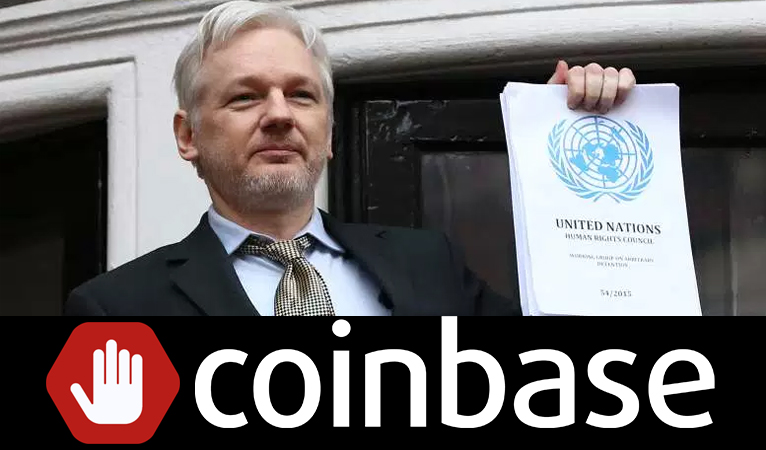 "Wikileaks Calls for ""Global Blockade"" of Coinbase after Coinbase Bans the Wikileaks' Shop"