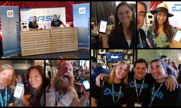 L'équipe de Dash configure 113 Portefeuilles Dash à la conférence Voice & Exit