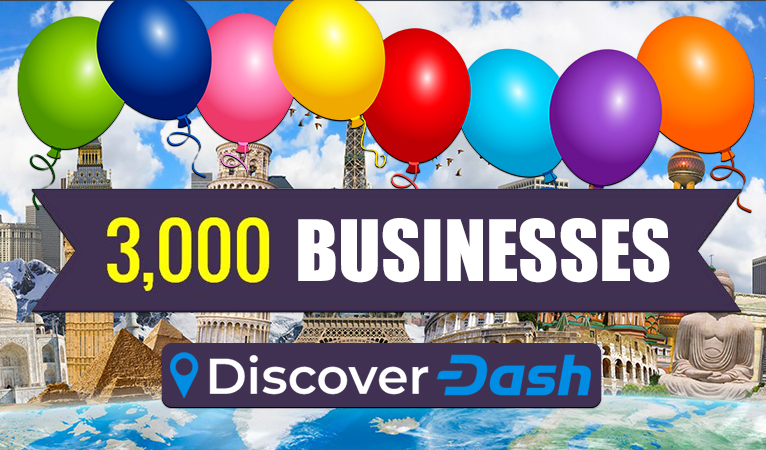 Dash Now Accepted at Over 3,000 Merchants Worldwide