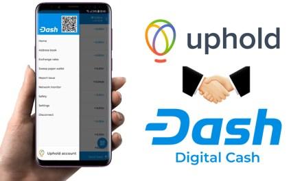Grâce au partenariat avec Uphold, vous pouvez acheter Dash directement via le portefeuille officiel