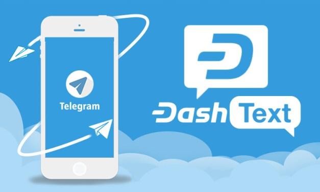 Сервис Dash Text запущен в мессенджере Telegram