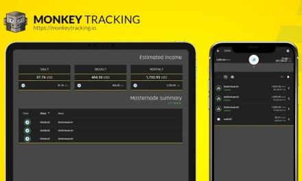 Die Portfolio App Monkey Tracking integriert Dash und Dash Masternodes