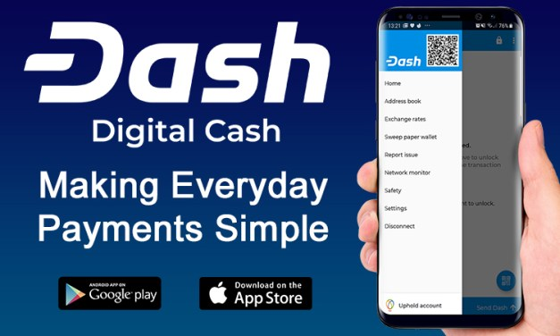 Uphold Integrado na Carteira Dash para iOS logo depois de Remoção da Taxa de Saque