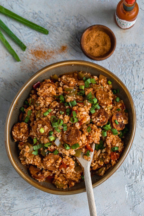 Cauliflower Rice Jambalaya - Dash Of Mandi
