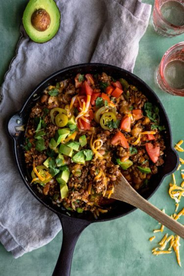 Cheesy Beef Taco Skillet | Dash Of Mandi