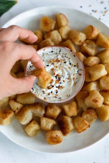 Cauliflower Gnocchi With Everything Bagel Dip