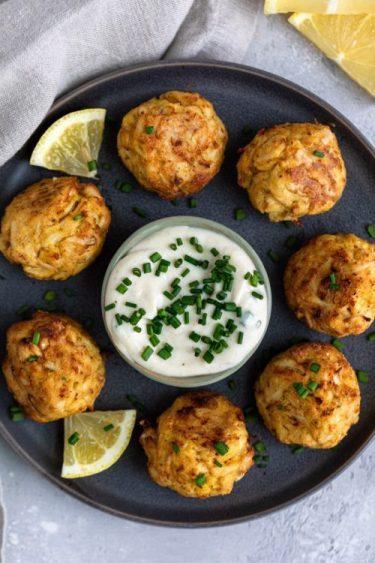 Healthier Crabcake Poppers - Dash of Mandi