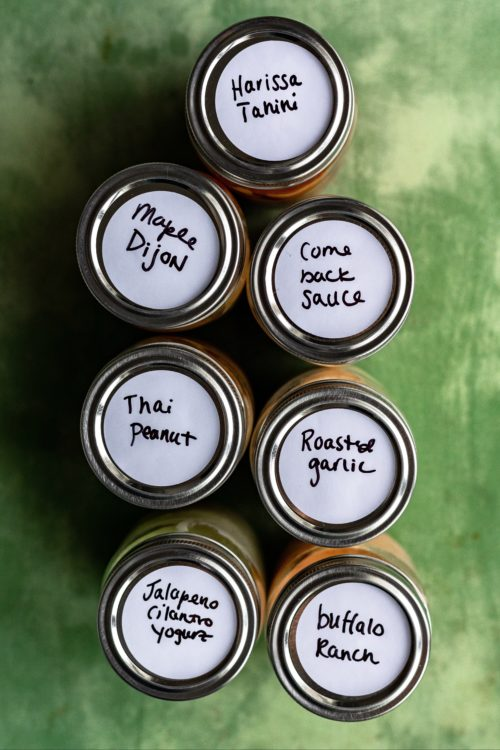 Labeled Dipping Sauces