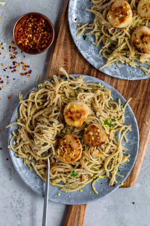 Scallop Pasta - Dash Of Mandi