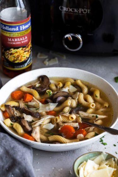 Crock-Pot Chicken Marsala Soup