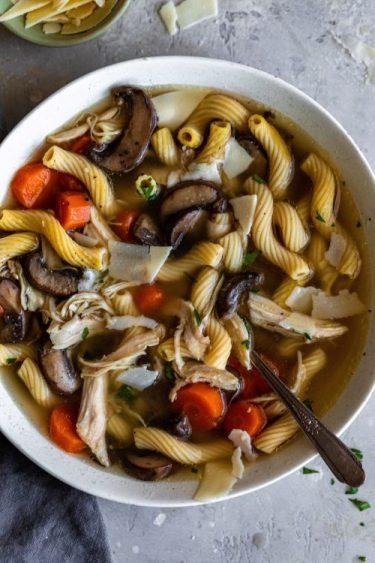 Healthy Chicken Marsala Soup