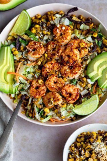 Shrimp Street Corn Salad - Dash Of Mandi