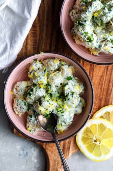 Lemon Ricotta Cauliflower Gnocchi - Dash Of Mandi
