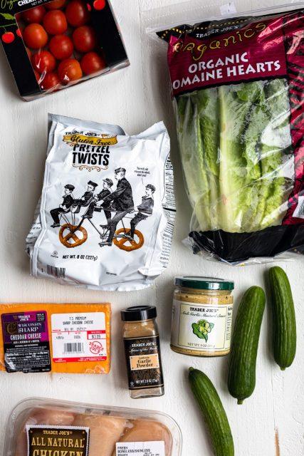 Pretzel chicken salad ingredients - Trader Joe's salad