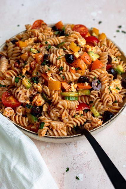 Harissa pasta salad recipe