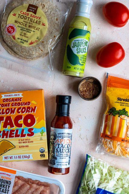 Cheesy gordita crunch taco ingredients from Trader Joe's