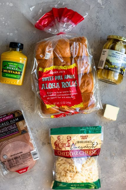 Trader Joe's Ham Cheddar & Dill Pickle Sliders Ingredients