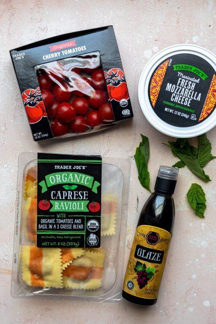 Trader Joe's caprese ravioli meal ingredients
