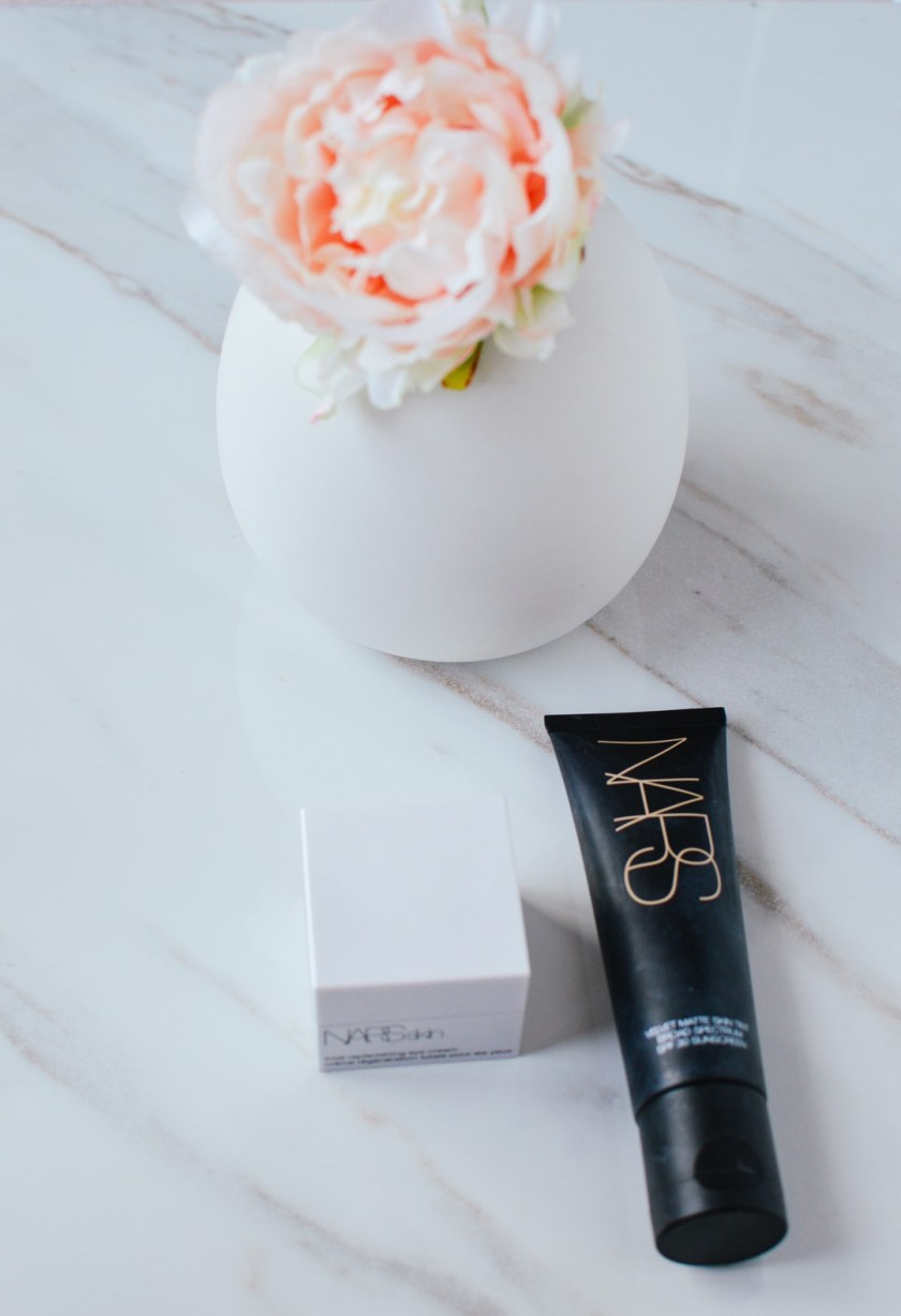 Mars skin tint and Nars eye cream