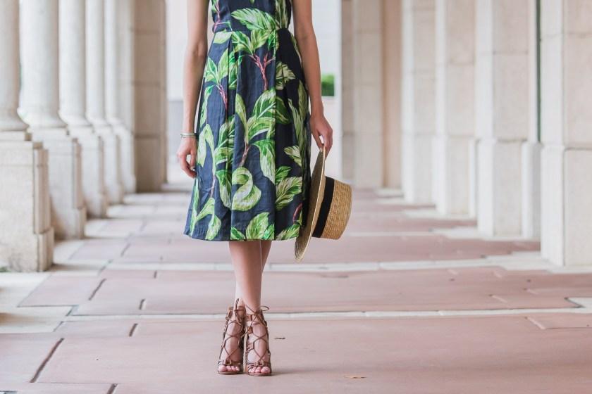 Dash of Panache wearing an Ann Taylor Amalfi Halter Dress