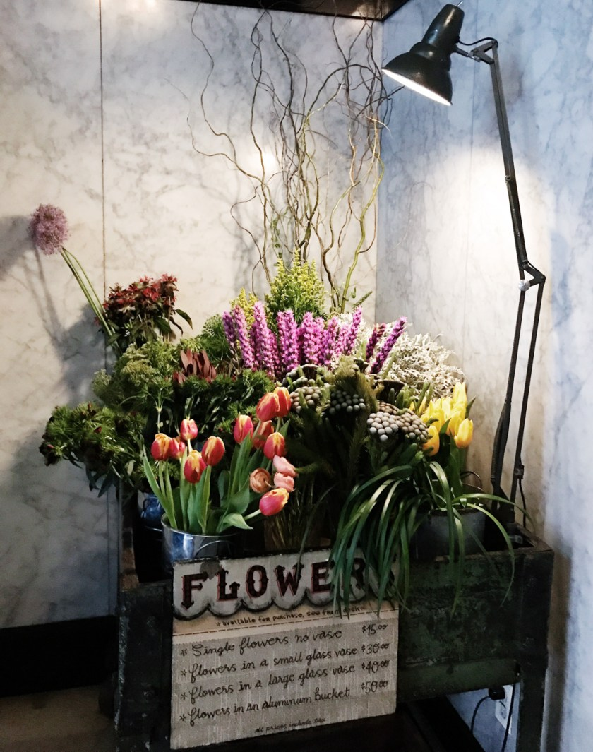 Flowers at the Ace Hotel NYC