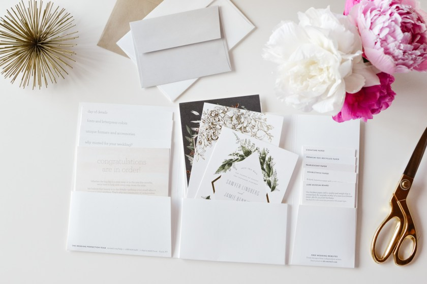 Minted wedding invitation package