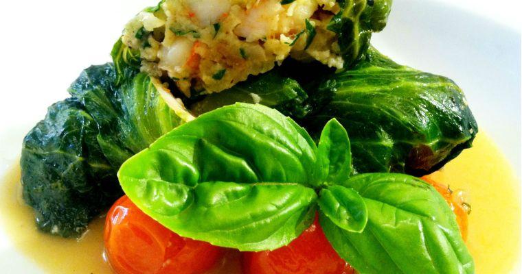 Braised Shrimp Lettuce Rolls