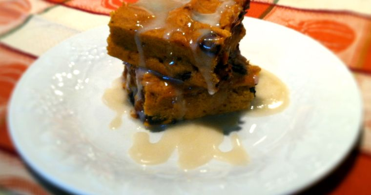 Pumpkin Chocolate Chip Cake with Maple Glaze