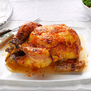 Glazed Roast Chicken