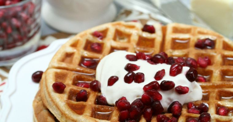 Bourbon Pomegranate Waffles